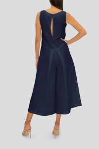 THE NAVY LINEN RELAX WITH ME JUMPSUIT