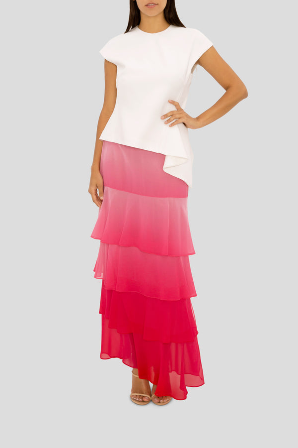 PASSION PINK OMBRE CLOUD NINE SKIRT