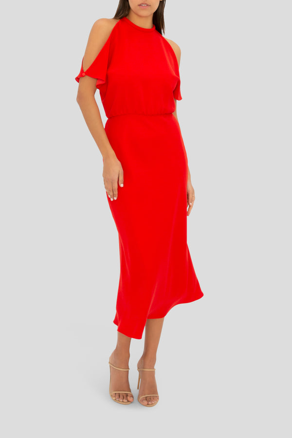 THE RED LILY DRESS