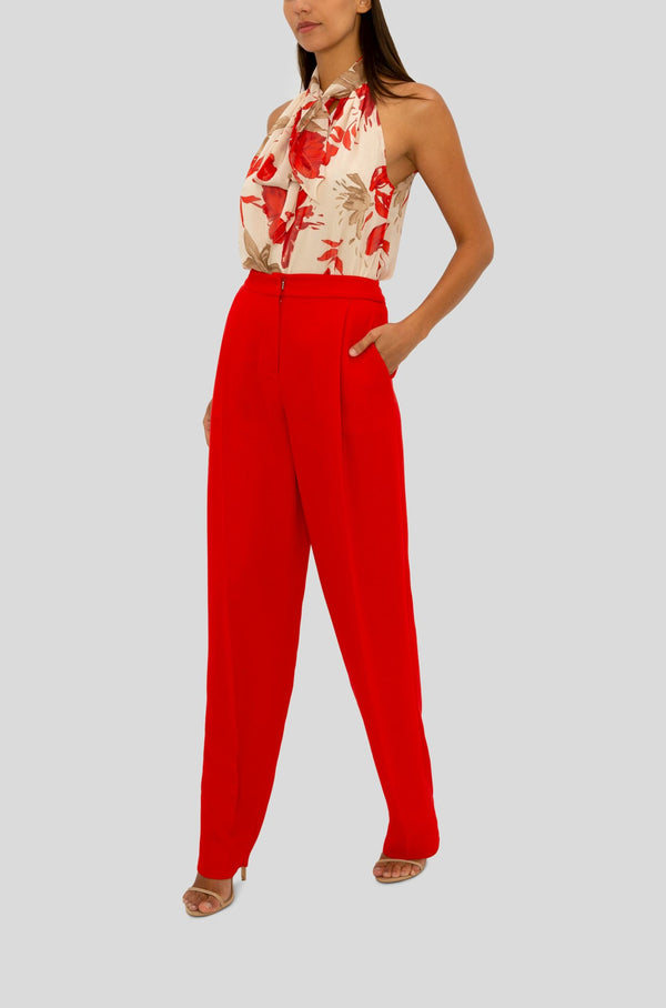 RED RELAXED PANT