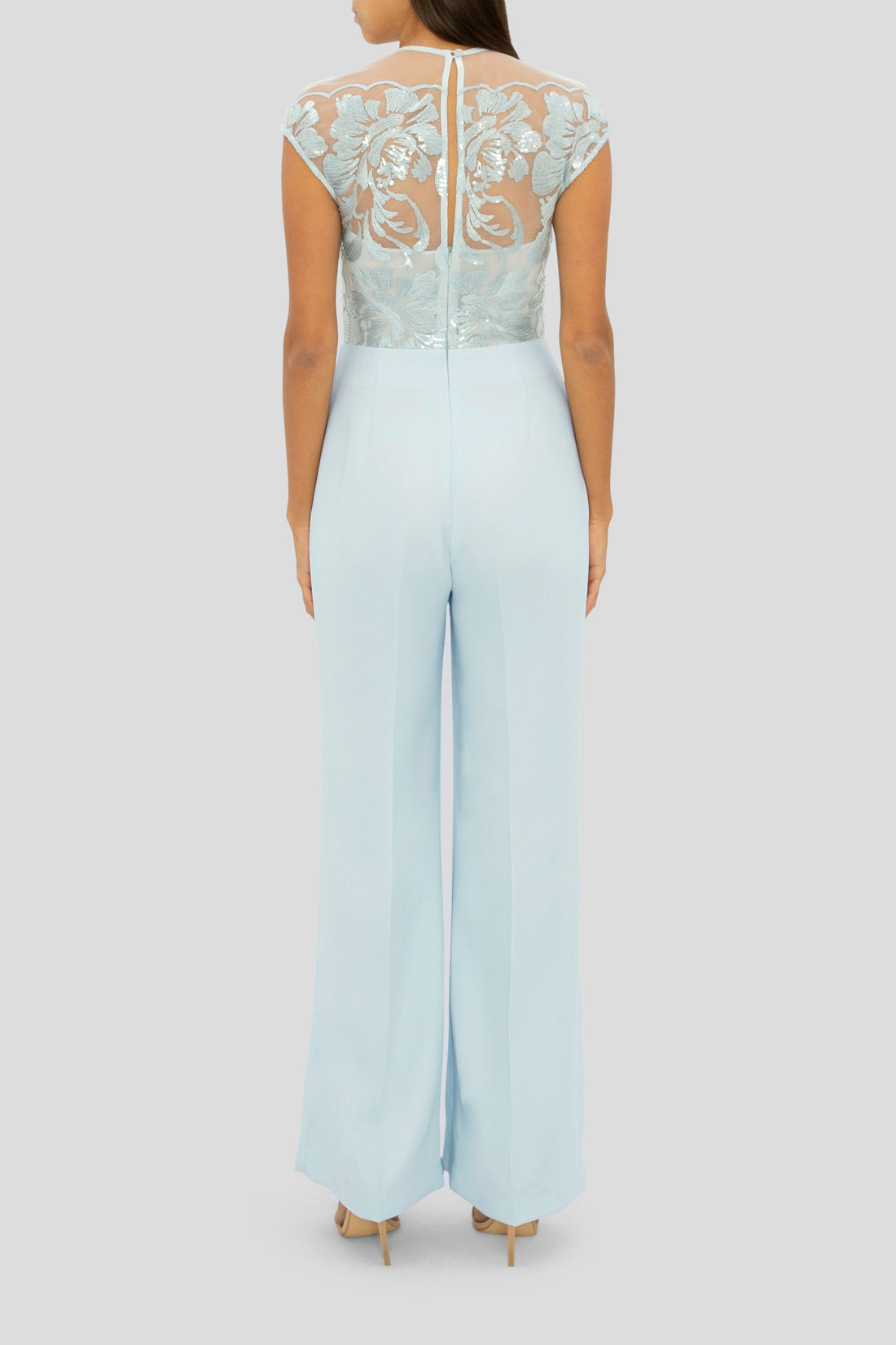 THE BLUE DIAMOND LACE JUMPSUIT