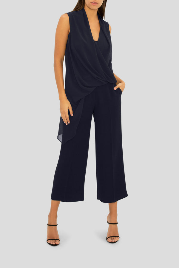 THE NAVY DREAM CROP PANT