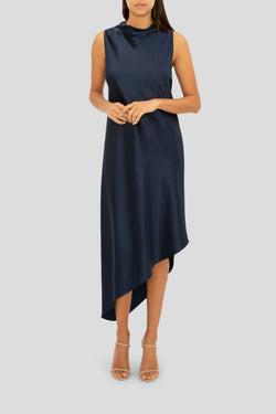 THE NAVY SOFT AND SENSUOUS DRESS