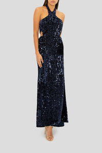 THE SPOTLIGHT ON YOU HALTER GOWN