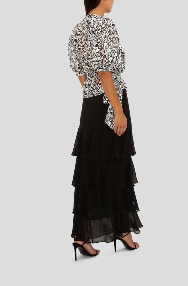 THE BLACK TIERED MAXI SKIRT