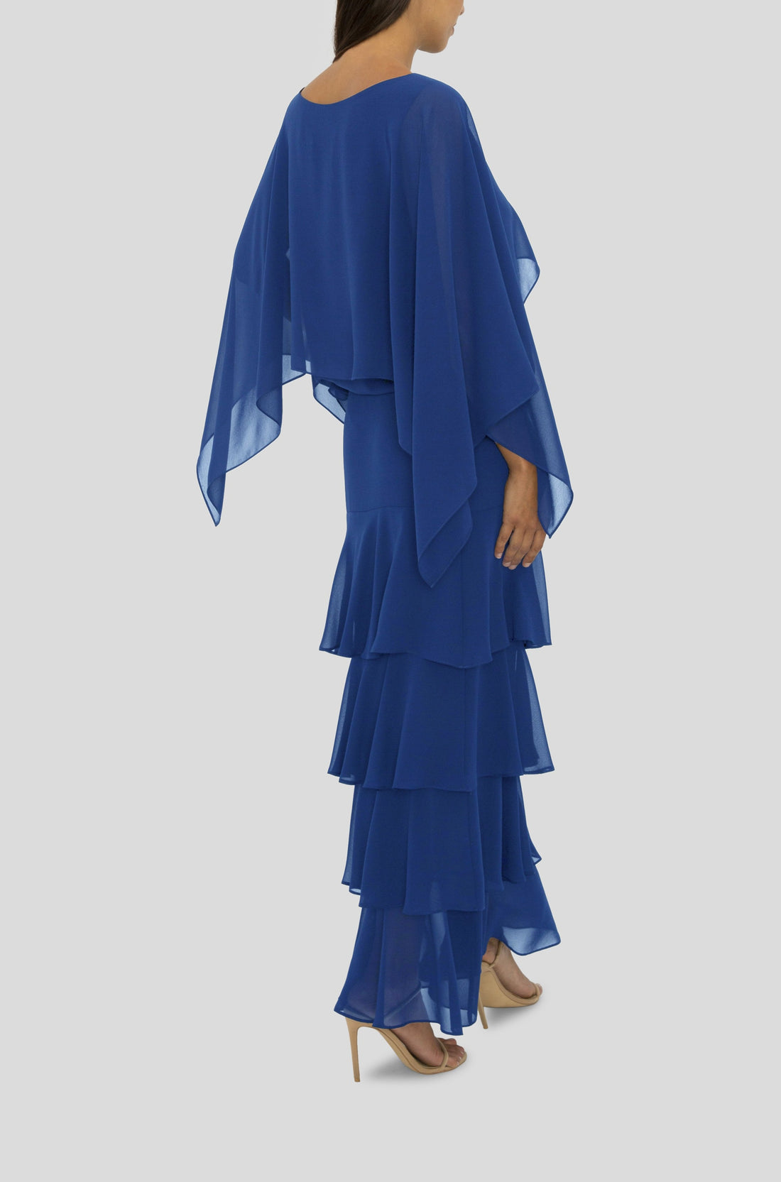 THE COBALT TIERED MAXI SKIRT