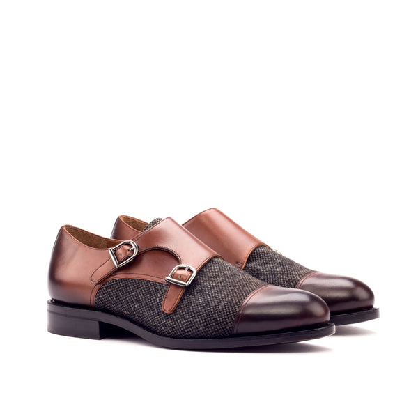 Customizable Double Monk Strap Shoe