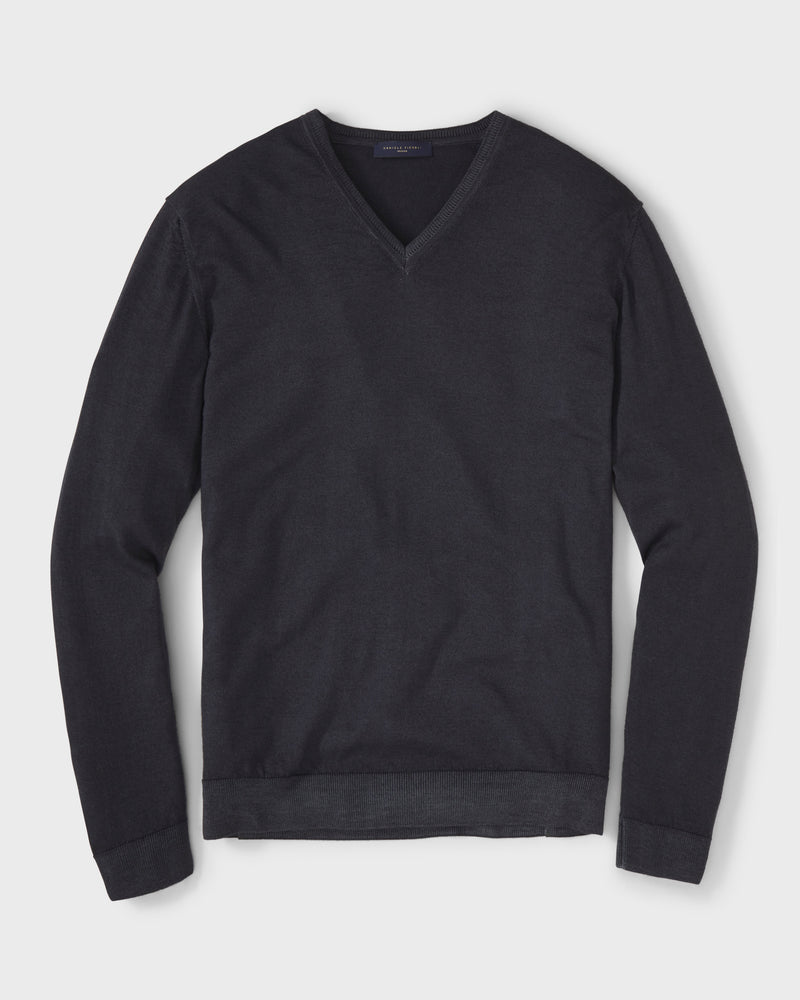 Virgin Wool V-Neck Sweater By Daniele Fiesoli