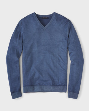 Load image into Gallery viewer, Virgin Wool V-Neck Sweater By Daniele Fiesoli