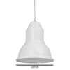 Suspension Industrielle Esprit Loft Blanche