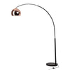 Lampadaire Salon Industriel Globe Rose Gold & Black