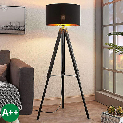 Lampadaire Trepied Industriel Black