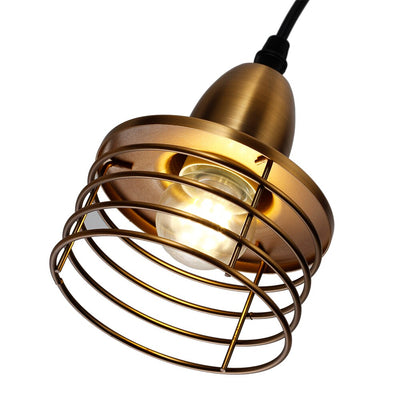 Suspension Industrielle Design couleur Bronze