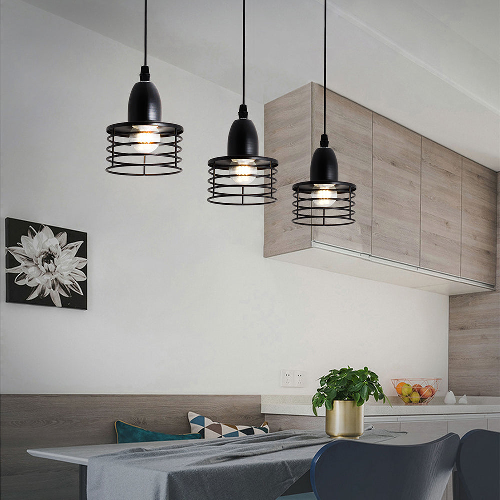 Suspension Industrielle Design Noire