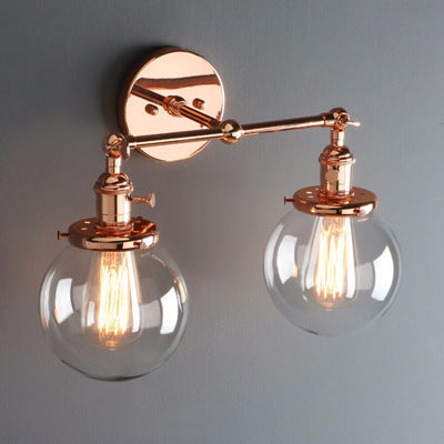 Applique Murale Industrielle Double Rose Gold