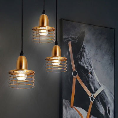 Suspension Industrielle Design Bronze