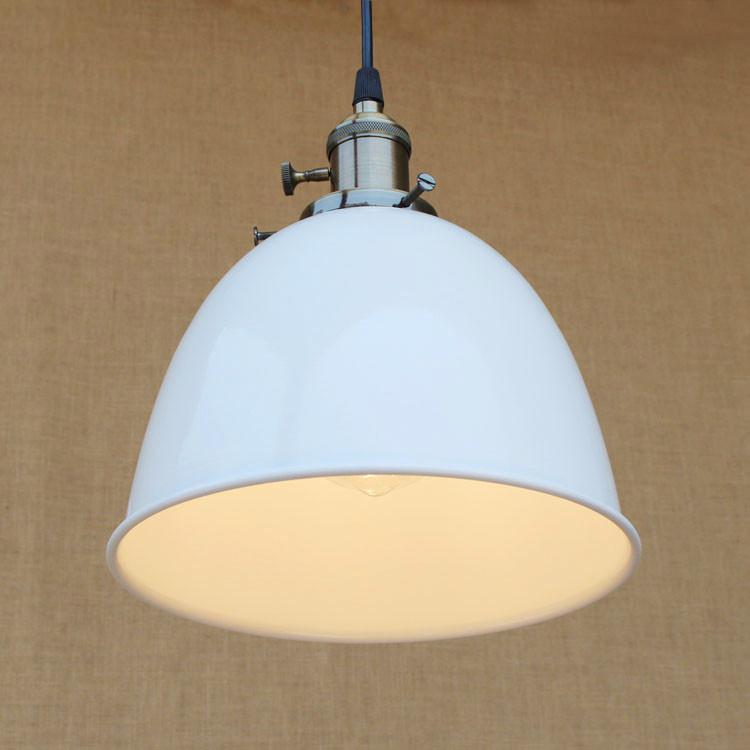 Suspension Industrielle Blanche XL