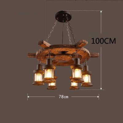 Suspension Industrielle Bois 1740