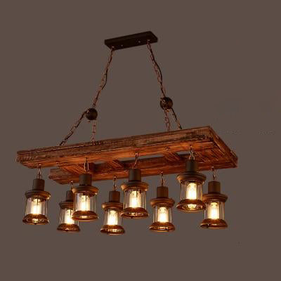 Suspension Industrielle Bois 1870