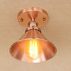 Plafonnier Industriel Vintage 1940 Or Rose