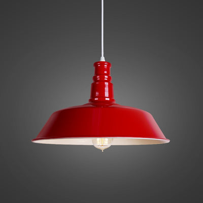 Suspension Style Industriel Rouge