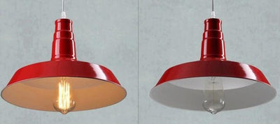 Suspensions Style Industriel Rouges