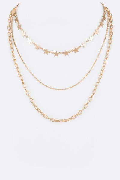 Star Mix Chain Layer Fashion Necklace - No Fashion Deadlines