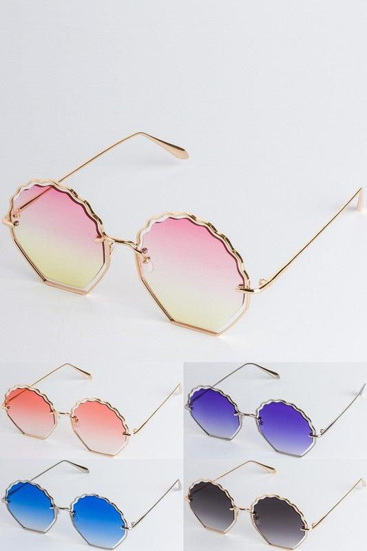 Colored Lens Shell Fashion Sunglasses - No Fashion Deadlines