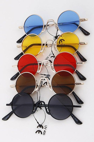 Classic Hipster Circle Sunglasses - No Fashion Deadlines