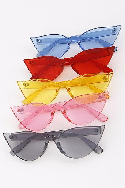 Colored Cat Eye Fashion Sunglasses - No Fashion Deadlines