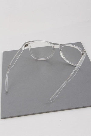 Clear Fashion Reader Glasses - No Fashion Deadlines