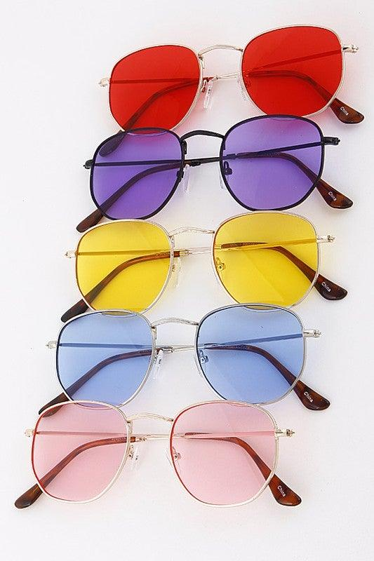 Classic Colored Tinted Lens Sunglasses