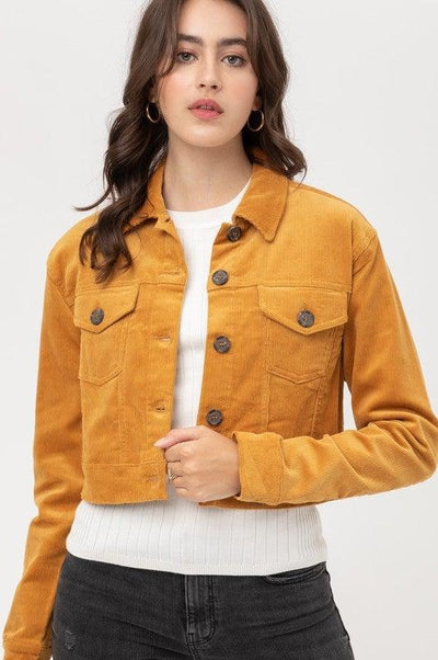 Mustard Cropped Corduroy Jacket - No Fashion Deadlines
