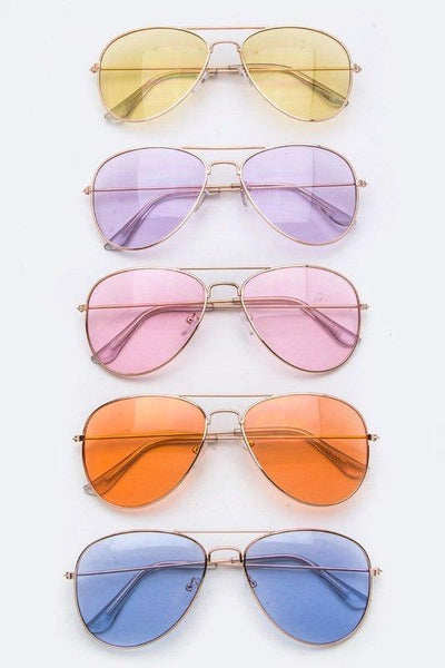 Colored Tinted Fashion Aviator Sunglasses - No Fashion Deadlines