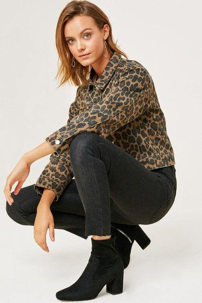 Leopard Print Denim Jacket - No Fashion Deadlines