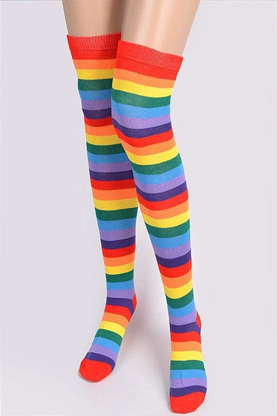 Rainbow Love Knee Socks - No Fashion Deadlines