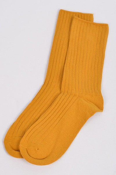 Mustard Simple Ankle Socks - No Fashion Deadlines