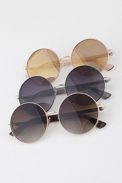 Double Frame Round Sunglasses - No Fashion Deadlines