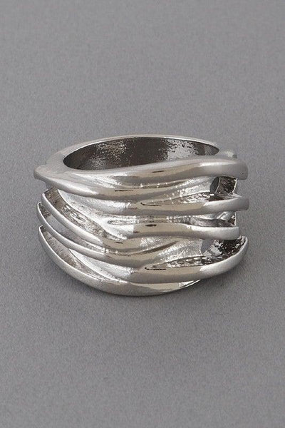 Silver Wave Cut Out Ring - No Fashion Deadlines