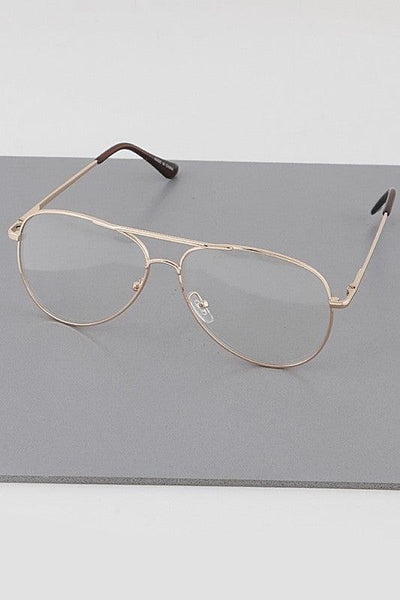 Clear Rim Aviator Glasses - No Fashion Deadlines