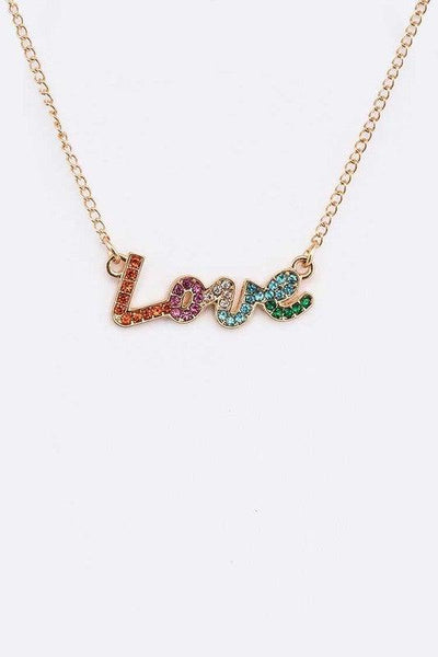 Love Crystal Layer Necklace Set - No Fashion Deadlines