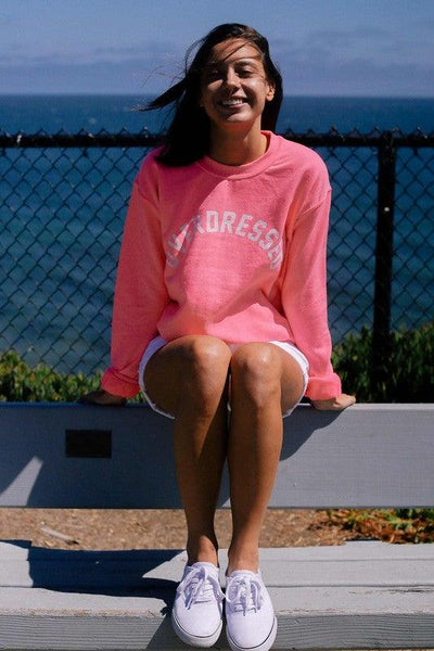 Neon Pink Overdressed Sweatshirt - No Fashion Deadlines