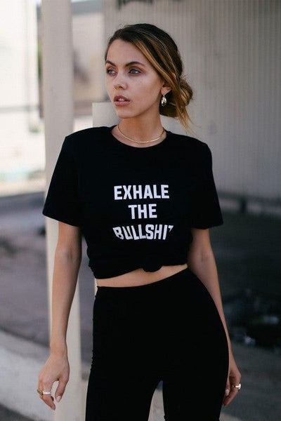 Exhale The Bull Black T-Shirt - No Fashion Deadlines
