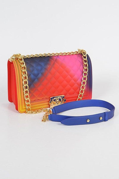 PVC Square Crossbody Clutch - No Fashion Deadlines