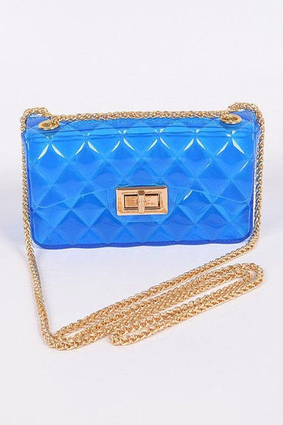 Blue Jelly Translucent Clutch Purse - No Fashion Deadlines