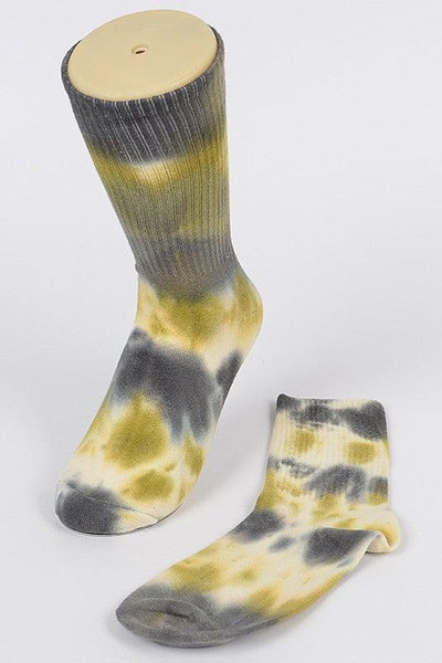 Mustard Tie Dye Socks - No Fashion Deadlines