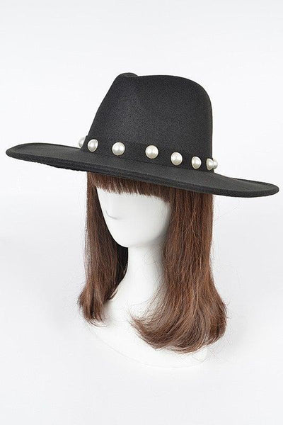 Black Pearl Faux Wool Fedora - No Fashion Deadlines