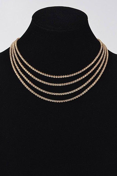 Gold Round Layered Necklace - No Fashion Deadlines