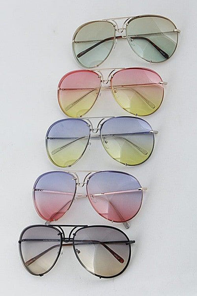 Multi Tone Aviator Sunglasses - No Fashion Deadlines