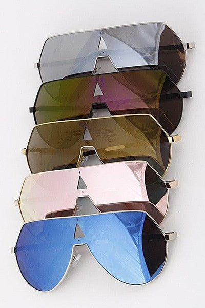 Large Aviator Tinted Mirrored Sunglasses - No Fashion Deadlines
